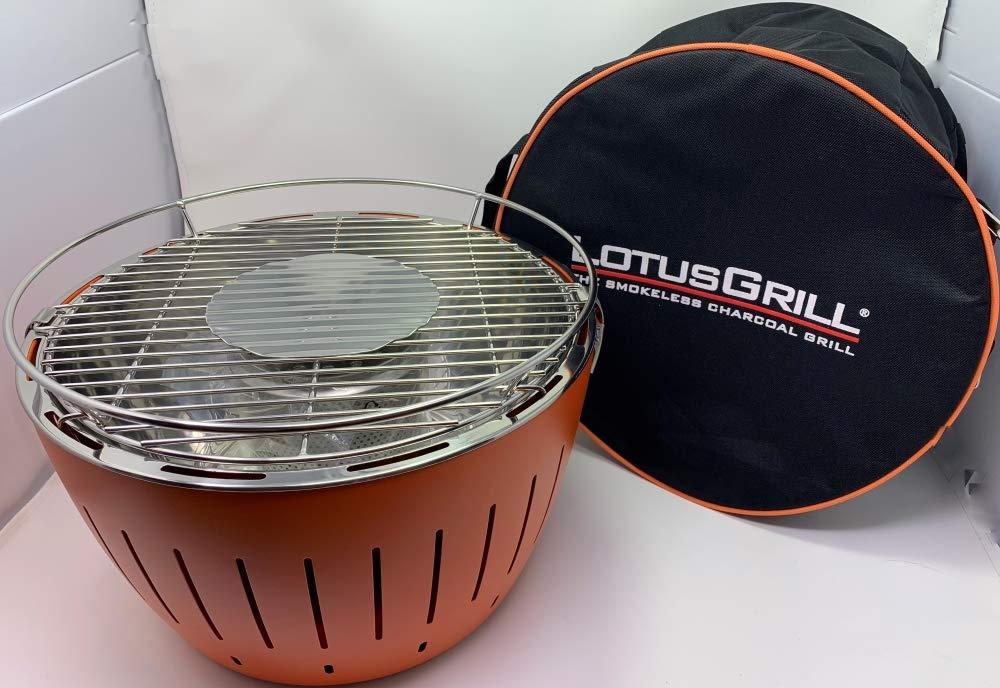 LotusGrill Set per gli amanti del barbecue; includegriglia, mix di spezie per barbecue Pure Beef di Hallingers e custodia per il trasporto