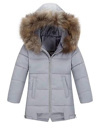 00d70896c6fe Girl s Zip Off Coat Water Resistant Solid Lightweight Soft Hooded Puffer  Jacket 3T