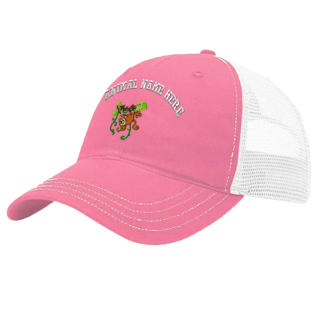 Custom Trucker Hat Richardson Kid Monkey On Vine Embroidery Animal Name Cotton