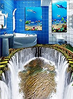 Cunguang 3D PVC Bodenbeläge Benutzerdefinierte Wand Papier Aufkleber Der  Wasserfall Wasser Pool 3D Badezimmer Bodenbeläge