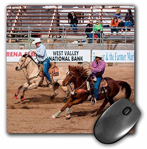 3dRose USA, Arizona, Buckeye, hellzapoppin arena. Equipo Roping en rodeo., mouse pad, 20.3cm por 8' (mp _ 229552_ 1)