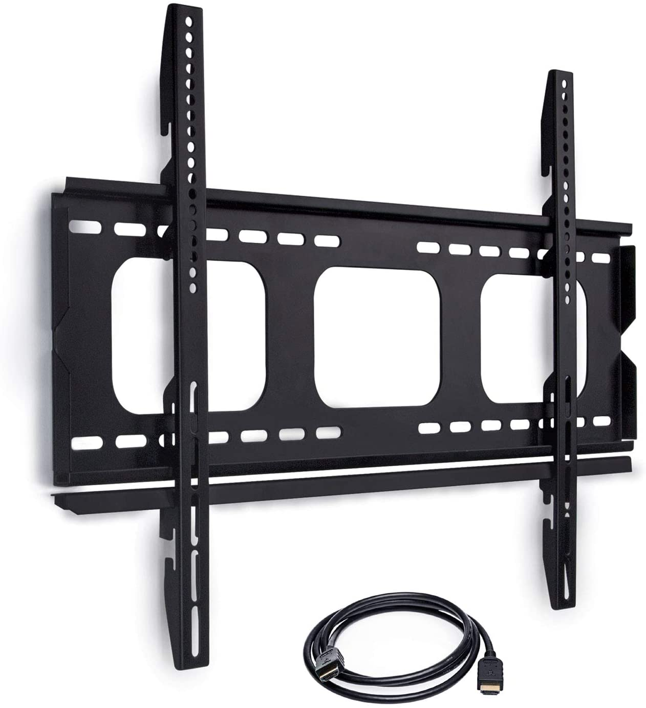 Mount-It MI-305B Locking Wall Mount for Samsung, Sony, LG, Sharp, Insignia, Vizio, Toshiba, Sharp, TCL, Westinghouse, 4K, 32, 40, 42, 48, 49, 50, 52, 55, 60 TV Monitor, VESA 770×480, 6ft HDMI Cable