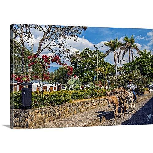 - Colombia, Santa Fe de Antioquia, Typical Scene Canvas Wall Art Print, 18