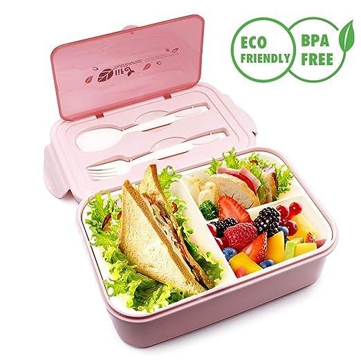 Bento Box,Contenedores de alimentos con cuchara y tenedor,cajas de ...