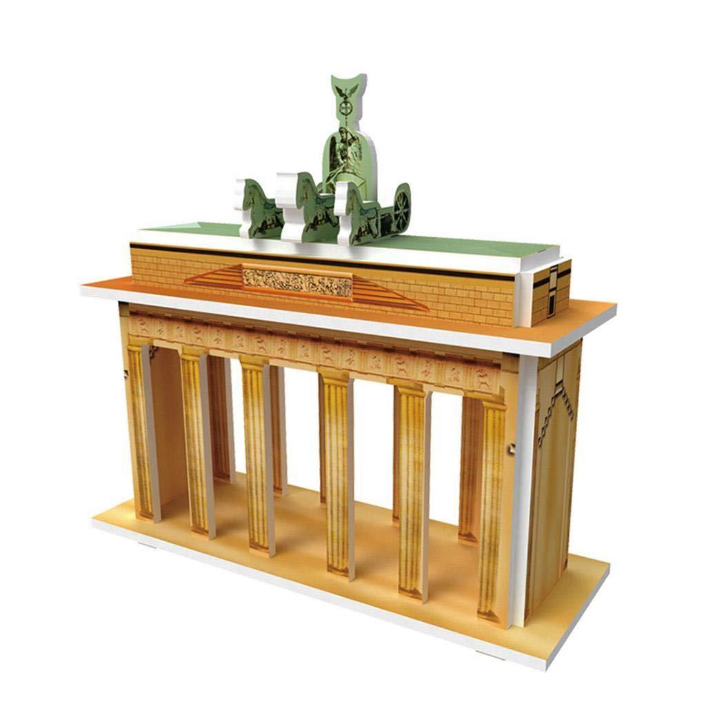 3D Puzzle para Niños Arquitectura Mundial Modelo de Construcción Kit de Desarrollo Torre de Tokio,Pirámide, Brandeburgo, Notre Dame de Paris, Catedral ...