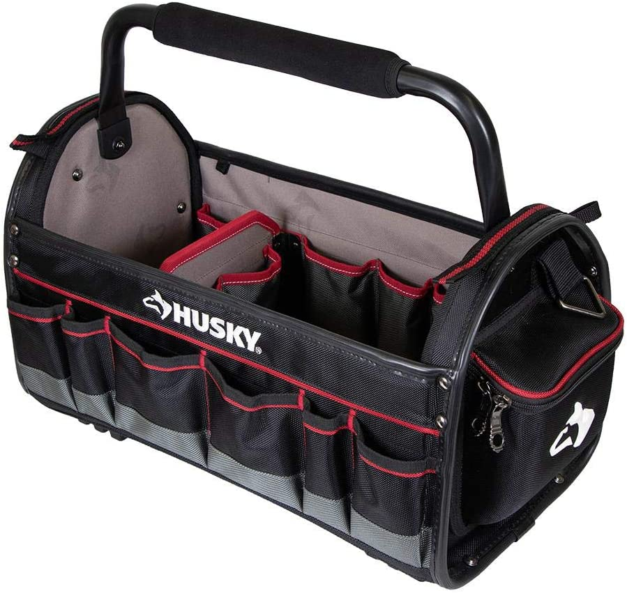 HUSKY 10 in TOOL BAG W//4 Pockets ~ 600 DENIER WATER RESISTANT MATERIAL ~ NEW