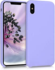 kwmobile TPU Silicone Case Compatible with Apple iPhone Xs Max - Soft Flexible Rubber Protective Cover - Lavender