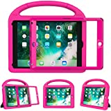 eTopxizu Shockproof Case Light Weight Kids Case for New iPad 9.7 2018/2017,iPad 9.7 Inch 2018 & 2017 Shockproof Case Super Protection Cover Handle Stand Case for Children - Rose Pink