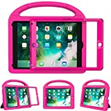 Surom Kids Case New iPad 9.7 2018/2017 Built-in Screen Protector, Light Weight Shock Proof Handle Stand Kids Case iPad 9.7 2017/2018 iPad Air/iPad Air 2/iPad Pro 9.7 - Rose Pink
