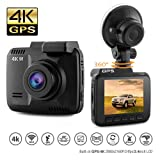 """Amazon Price History for:Dash Cam Car DVR Dashboard Camera Recorder with 4K FHD, Built-In WiFi & GPS, APP Support, G-Sensor, 2.4"""" LCD, 150 Degree Wide-Angle Lens, Loop Recording, Great Night Vision, Parking Monitor By Kidcia"""