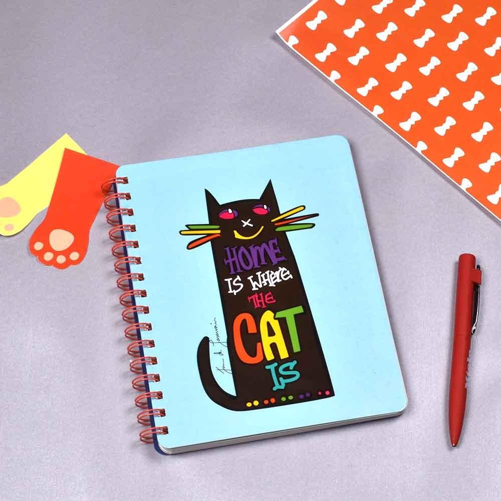 Doodle Kitten - Agenda de cuaderno con rayas de 160 páginas ...