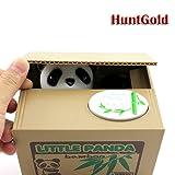 HuntGold Cute Panda Stealing Coins Cents Penny Buck Saving Money Box Pot Case Piggy Bank(pack of one)