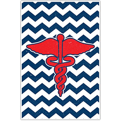 Medical Chevron Caduceus Wall Art (Caduceus Wall)