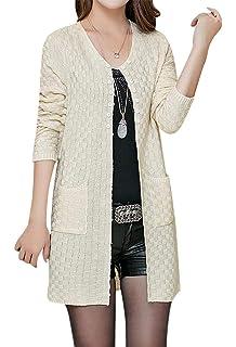 BLady Women White Fuzzy Faux Fur Full Sleeve Open Stitch