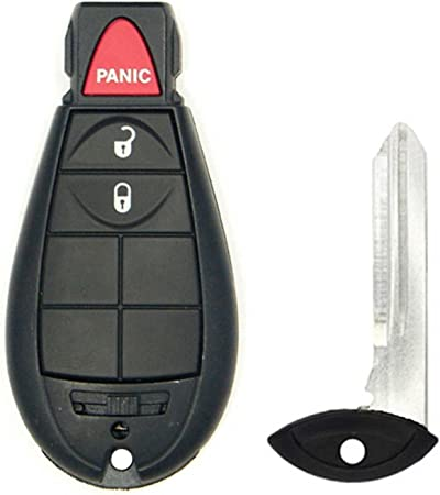 2 New Red Keyless Entry 3 Button Key Fob Remote M3N5WY783X IYZ-C01C 56046707AE For Chrysler Town Country Dodge Challenger Charger Durango Grand Caravan Journey /& Ram SHELL//CASE ONLY No Electronic