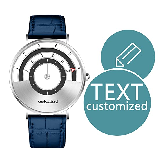Relojes Personalizados para Hombre, colección de Velocidad, Esfera de 40 mm con Texto Personalizable