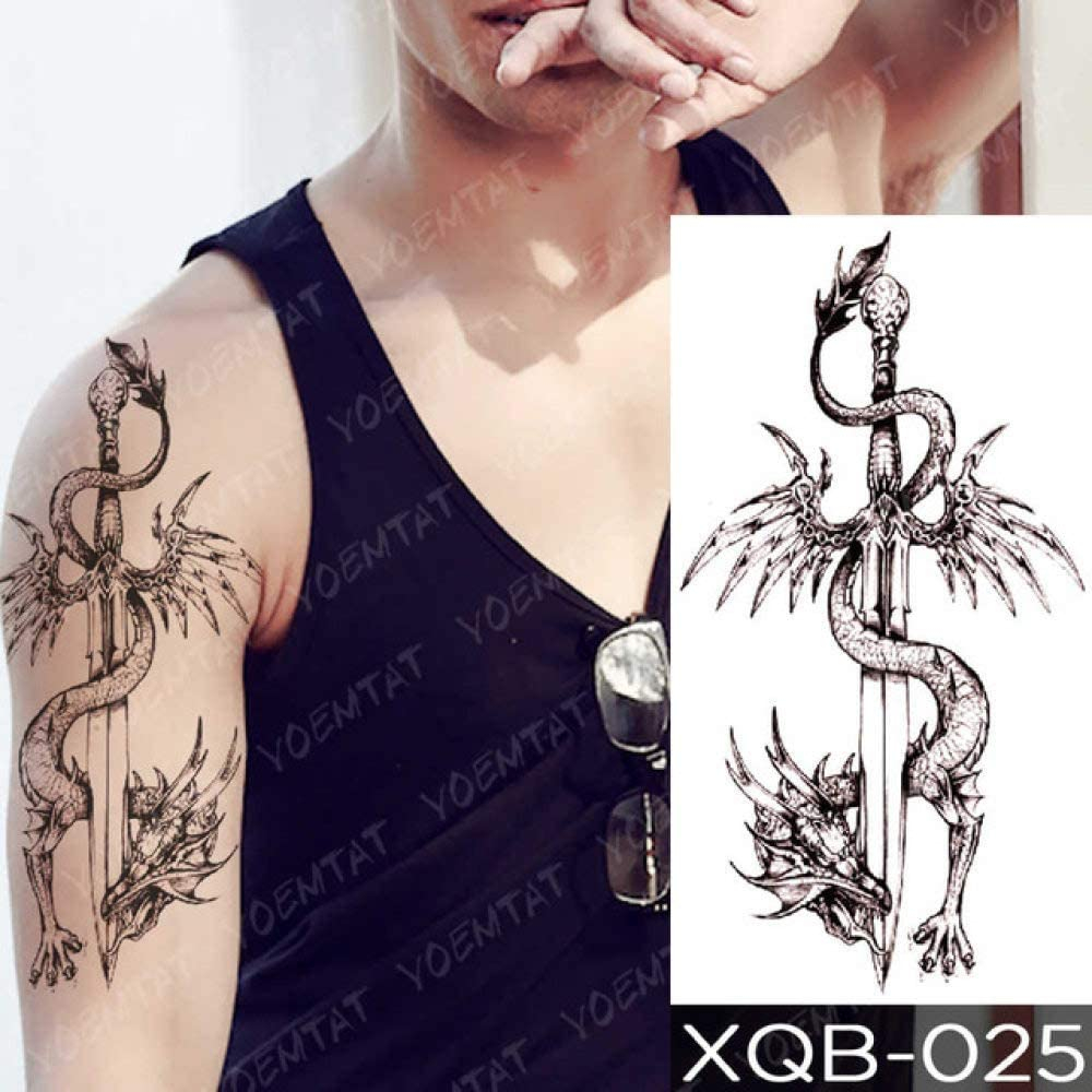 Prak Temporary Tattoos Dark Wind Waterproof Stickers Self Adhesive Beautiful Body Art Temporary Tattoo For Adult Teens Kids Sticker For Arms Legs Face Etc With Loads Of Patterns 19 Xqb025 Amazon Co Uk Kitchen Home