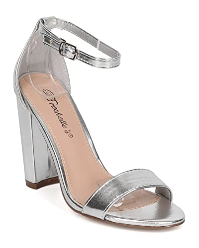 Amazon.com | Breckelle's Women Chunky Heel Sandal - Dressy, Formal ...