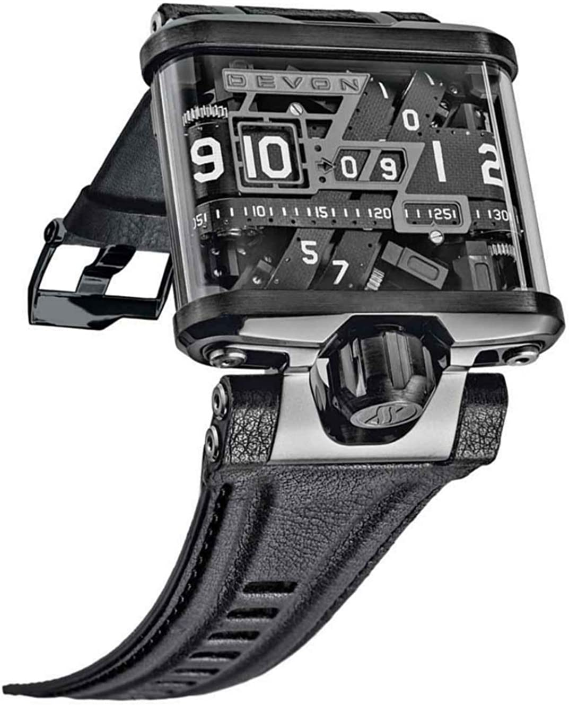 Devon tread1 e men`s time belt microstep motor watch TREAD1-E
