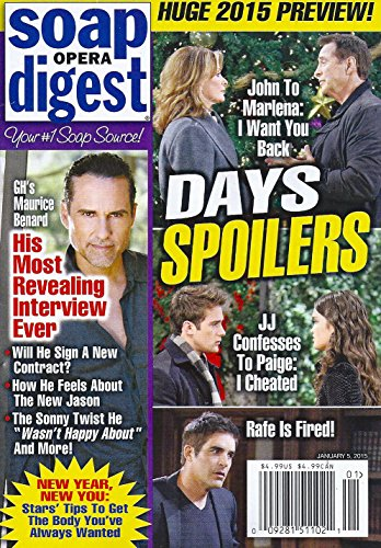 Huge 2015 Preview   Days Of Our Lives Spoilers   General Hospitals Maurice Benard  His Most Revealing Interview Ever   January 5  2015 Soap Opera Digest Magazine