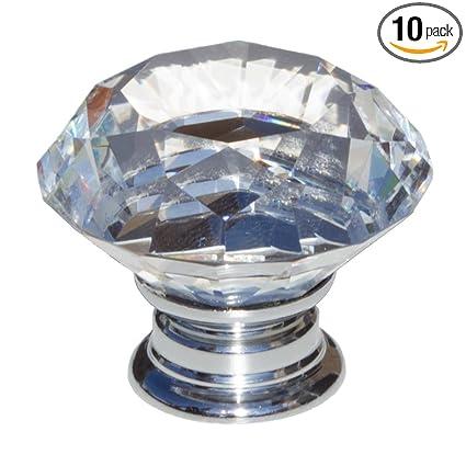 Superieur GlideRite Hardware 9054 CR 40 10 Clear K9 Crystal Diamond Shape Large  Cabinet