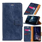Scheam LG K10 2017 (European Version) Case, [Portable Wallet ] [ Slim Fit ] Heavy Duty Protective Excellence Flip Cover Wallet Case LG K10 2017 (European Version) - Blue