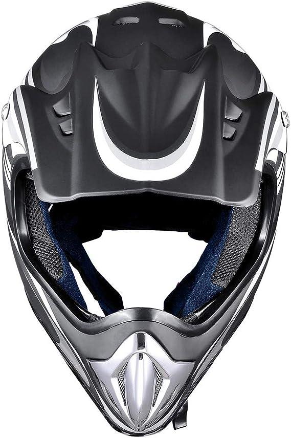 Matte Free goggles + Gloves + Masks WYFC Adult Offroad Helmet Sport Off-Road Dirt Bike Motocross Helmet MX Motorcycle Helmet ATV Scooter Helmet D.O.T