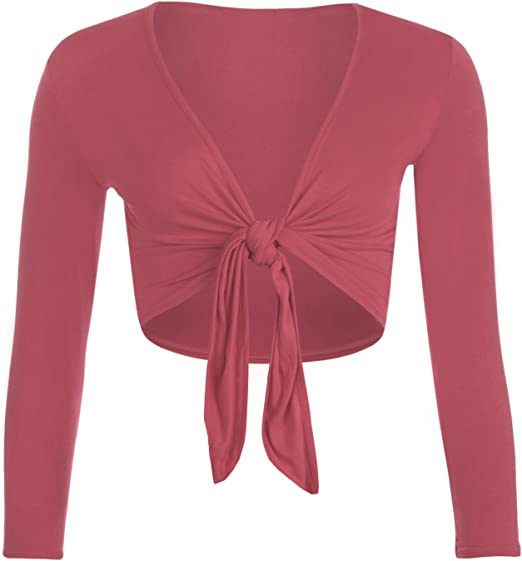 ZEE FASHION - Torera - para Mujer Rosa Coral S/M 36-38