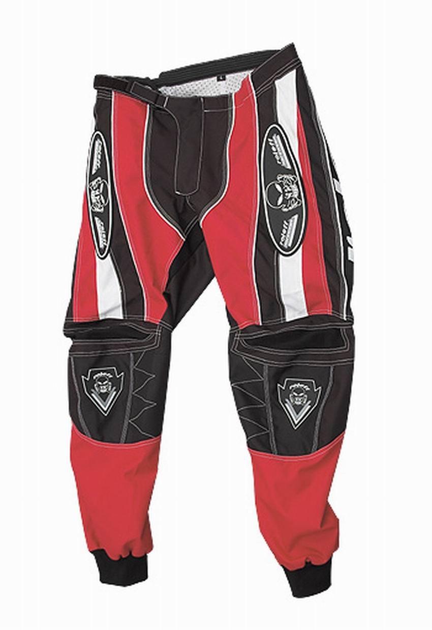 Rojo//Negro Roleff Racewear 8613 Pantal/ón Motocross Tama/ño M