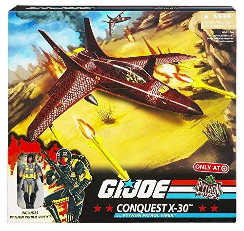 G.I. Joe 25th Anniversary Exclusive Conquest X-30 Python Patrol Jet with Python Patrol Viper Action Figure