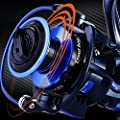 TROUTBOY ZM Fishing Reel Spinning Reels With Latest Design Unique Main Body - T6 Doluble Anodized Aluminum Spool,13+1 Double Shielded Stainless Steel Ball Bearings, Free Spare Graphite Spool