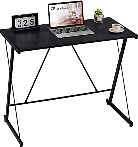 GreenForest Small Computer Desk 35 Writing Study Desk Modern Style Laptop Table