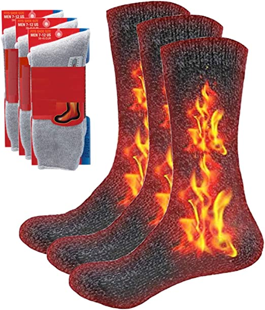 Ladies 3 to 12 Pack Winter Printed Thermal Boot Outdoor Snow Warm Socks
