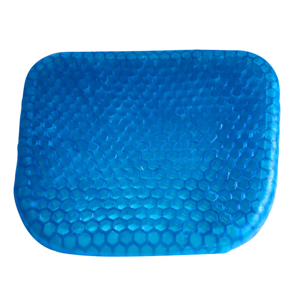 MQYH@ Gel Seat Cushion Breathable Cooling Pad for Car, Office Chair, Wheelchair, Pressure Sore Relief - Gel Comfort, Prevents Sweaty Bottom, Durable, Portable Seat Cushion with Washable Cover