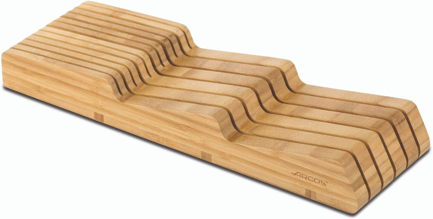 Compra Arcos 794300 Taco Cajonera Organizador Cuchillos, bambú, Marrón, 39 x 432 x 139 mm en Amazon.es