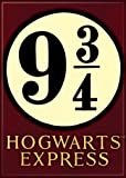 "Ata-Boy Harry Potter 9 3/4 Hogwarts Express 2.5"" x 3.5"" Magnet for Refrigerators and Lockers"