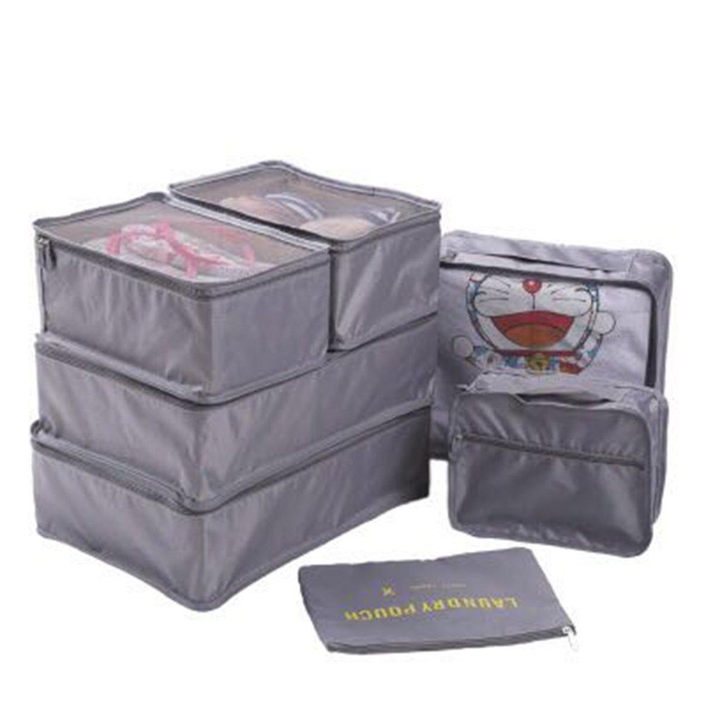 Durableパッキングキューブ7ピースセット – 旅行荷物梱包オーガナイザー簡単旅行 B071NGYDW5 グレー