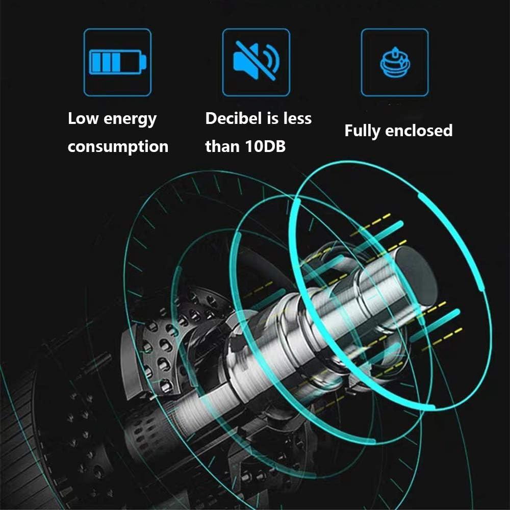 Scatola Carica Automatica Orologi 6 + 10, con Luce A LED Blu, in Guscio Legno e Pelle, Motore Estremamente Silenzioso, 4 Modalità Rotazione A