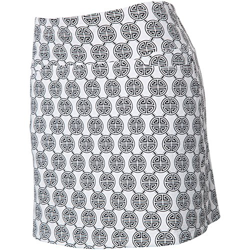 Icicles Sport Icikuls Womens Aida Print Straight Skort White/Black S by Icicles Sport