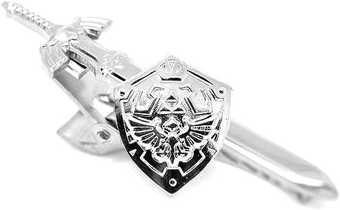 Gemelos de ZoS.co inspirados en el escudo Hyliano de la Leyenda de Zelda., Sword & Shield: Gold: Amazon.es: Joyería