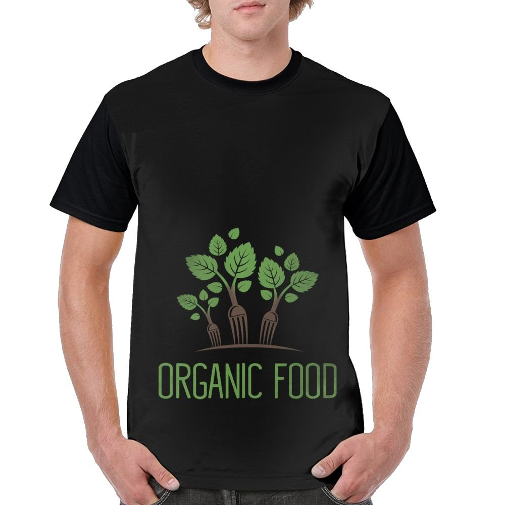 Quliuwuda Mens Green Food and Beverage Fashion Walk Black T Shirt Short Raglan Sleeve