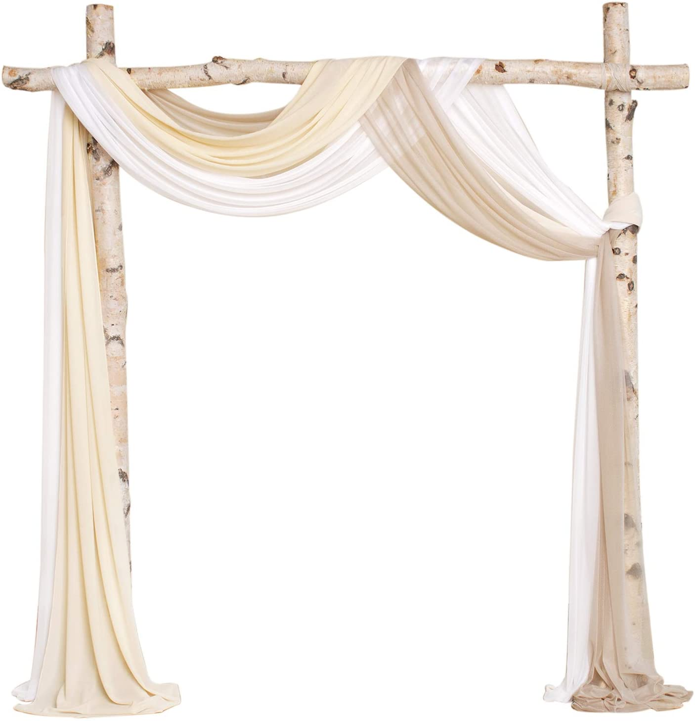 Ling's moment Wedding Arch Drapping Fabric