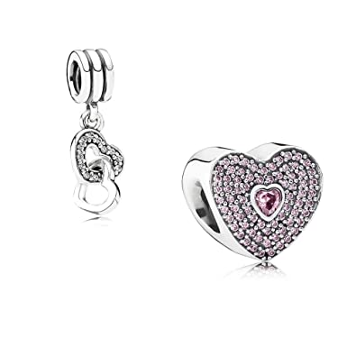 3276f7a62 ... spain original pandora gift set 1 charm charm love heart 791555czs and 1  silver pendant entwined