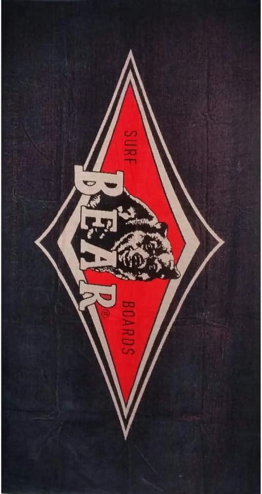 Bear Telo Mare Asciugamano Beach Towel Spugna Beach SS20 Night Black Nero Rosso