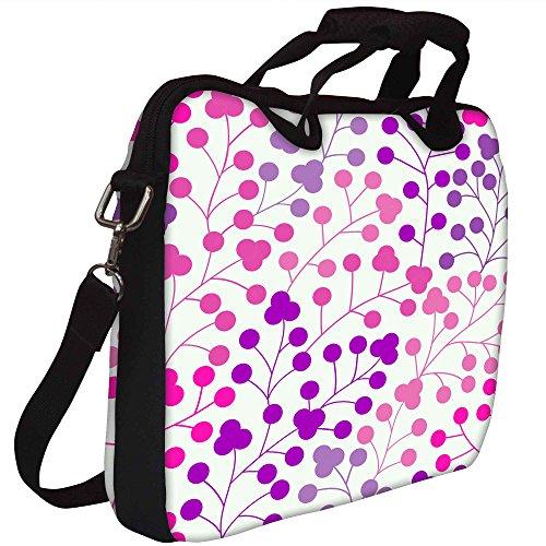 Snoogg Nahtlose Muster mit Blatt Kopie, die Platz an der Seite und youll seaml Gedruckt Notebook-Tasche mit Schultergurt 15 bis 15,6 Zoll