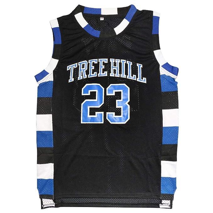 2ef6e5d9d65 Mens Ravens Basketball Jersey One Tree Hill Jersey #23 Nathan Scott Sports Movie  Jersey (