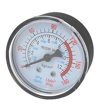 Compresor de aire neumático hidráulico líquido manómetro 0 – 12 bar