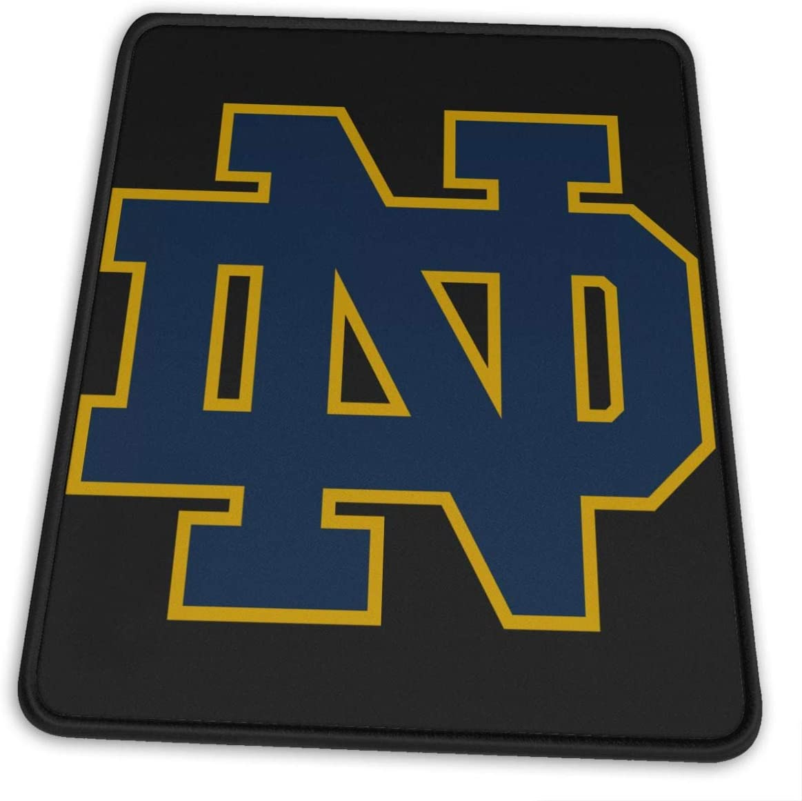 University of Notre Dame Nd Logo Comfortable and Wearable Rubber Computer Mouse Pad Precision Locking Non-Slip for Laptop Office Home Game