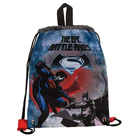 Warner Batman Vs Superman Mochila Infantil, 2.4 litros, Color Negro