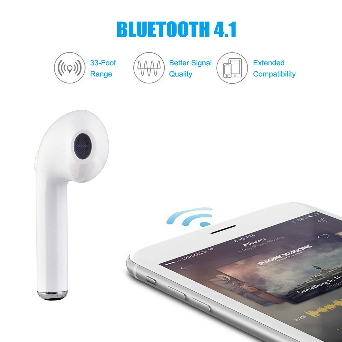 Amazon.com: Bluetooth Earbud, Mini Wireless Dual Bluetooth Headset Twins Stereo Headphone Cordless Sport Earphone with 950mAh with Charging Case for iphone ...